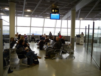 another airport waiting area / this time Dublin