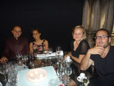 Guests from India and Australia at the EXD'09 dinner